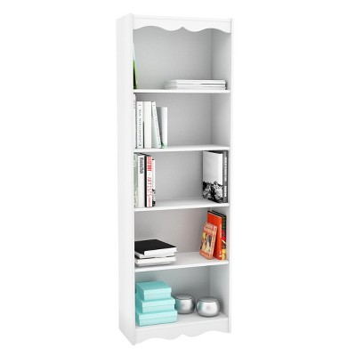 72  Hawthorn Tall Bookcase White - Corliving
