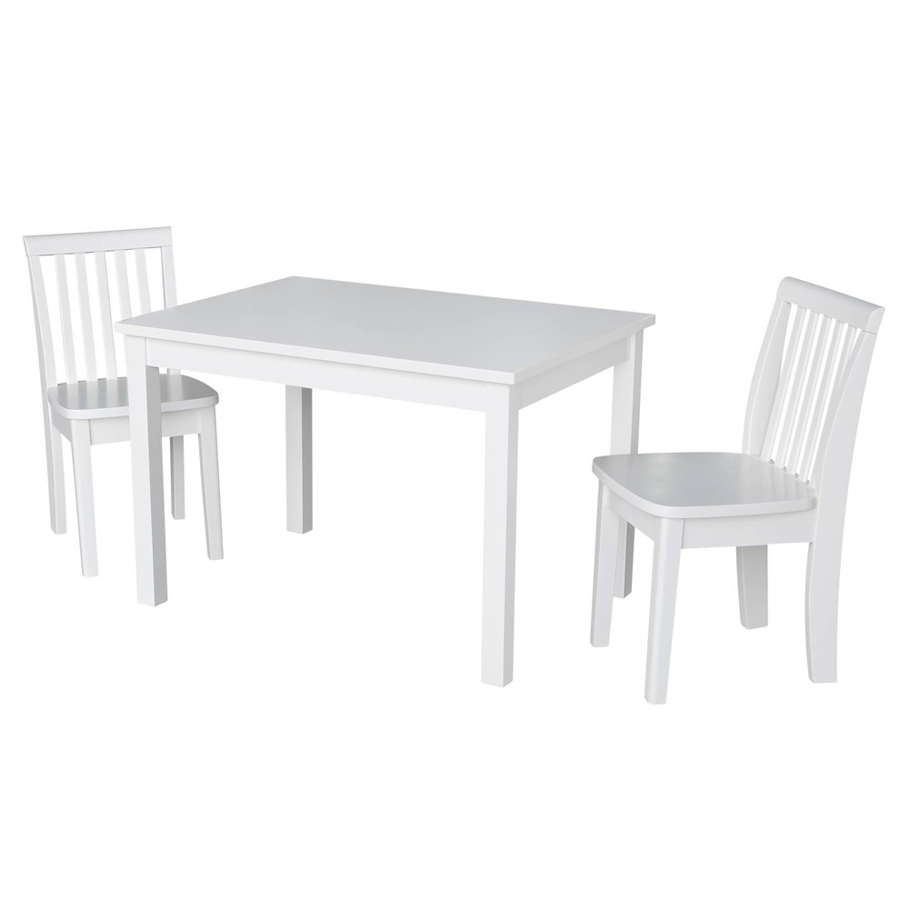 Image of 3pc Kids Table and Chair Set Linen White - International Concepts