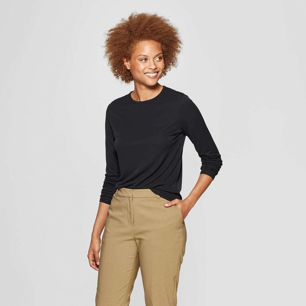 1d30e1a5acf2 Womens Long Sleeve Crewneck T Shirt Prologue Black Xxl