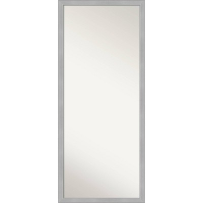 "27"" x 63"" Vista Brushed Framed Full Length Floor/Leaner Mirror Nickel - Amanti Art"
