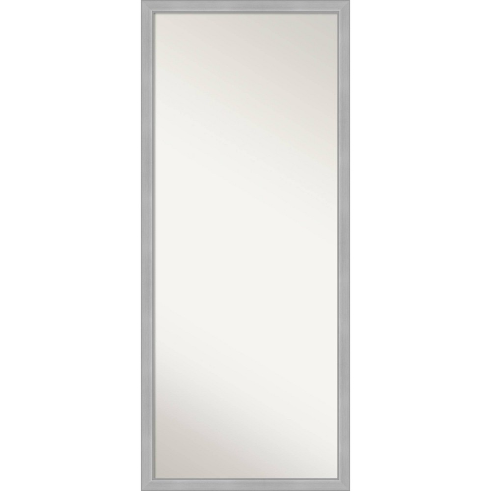 27 34 X 63 34 Vista Brushed Framed Full Length Floor Leaner Mirror Nickel Amanti Art
