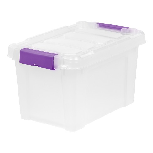 IRIS 5 Gal. Heavy Duty Plastic Storage Bin - 6pk - image 1 of 5