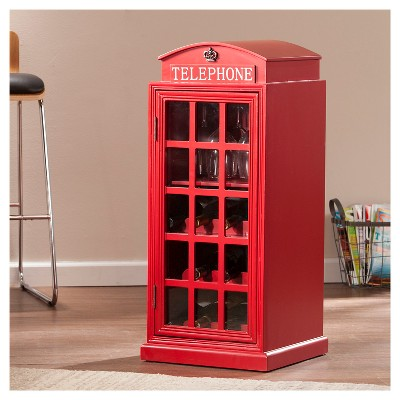 Superieur Adams Phone Booth   Wine Cabinet   Red   Aiden Lane : Target