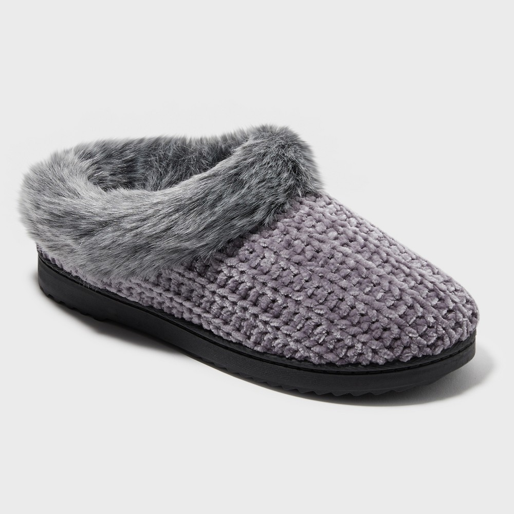 Women's Dearfoams Slide Slippers - Mid Grey XL