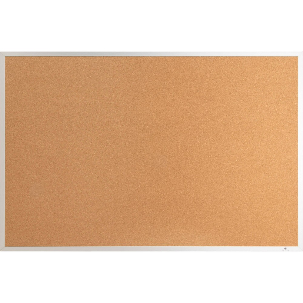 Image of Lorell Aluminum Frame Cork Board, Brown