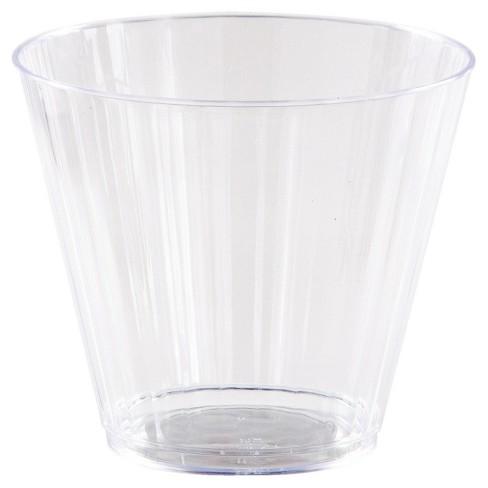 8ct Clear Plastic Glasses, 9oz : Target
