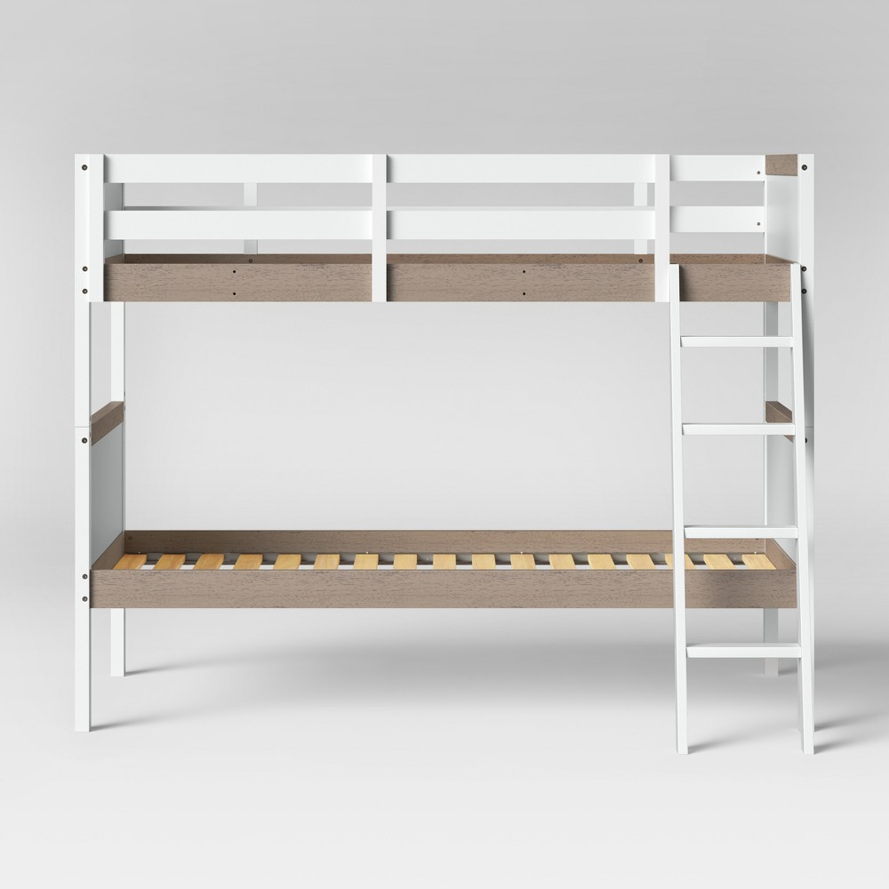 Twin Over Twin Robinson Bunk Bed White - Pillowfort