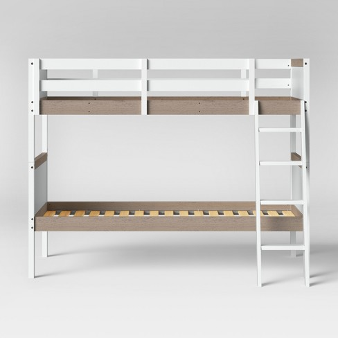 Twin Over Twin Robinson Bunk Bed White Pillowfort Target