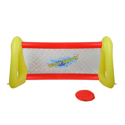 """Pool Central 51"""" Inflatable Swimming Pool Frisbee Game Set - Red/Yellow"""