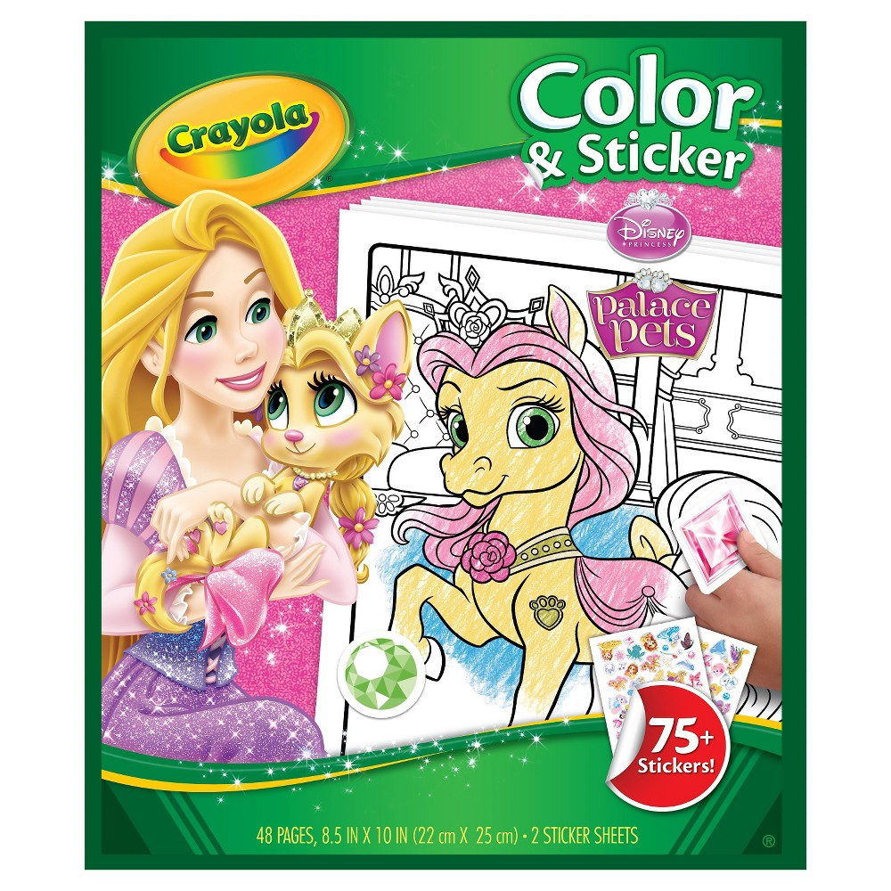 Crayola Color & Sticker - Princess Crayola Color and Sticker provides hours of color and sticker play with your favorite characters from PJ Masks! Includes 32 coloring pages and over 50 stickers!