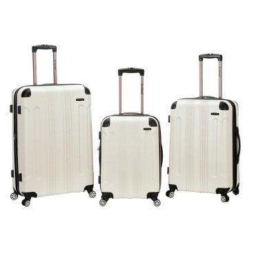 Rockland 3pc ABS Luggage Set - White