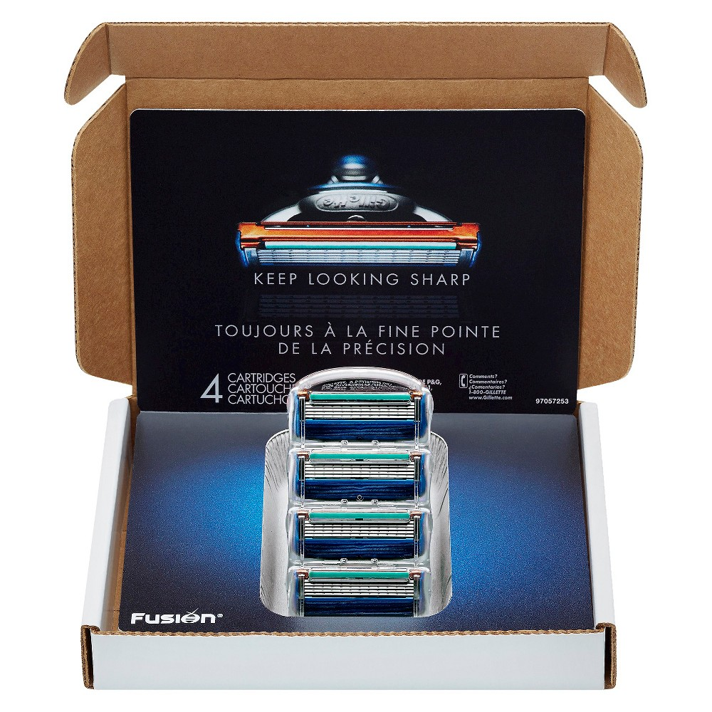 Image of Gillette Fusion Manual Razor Blade Refill Pack Subscription Pack - 4ct