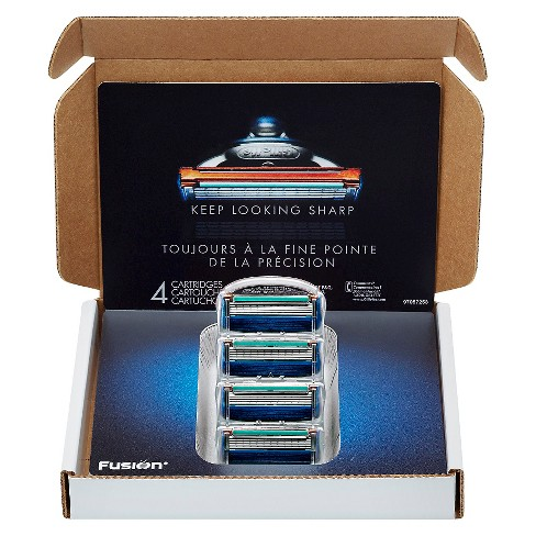 Gillette Fusion Manual Razor Blade Refill Pack Subscription Pack - 4ct - image 1 of 4