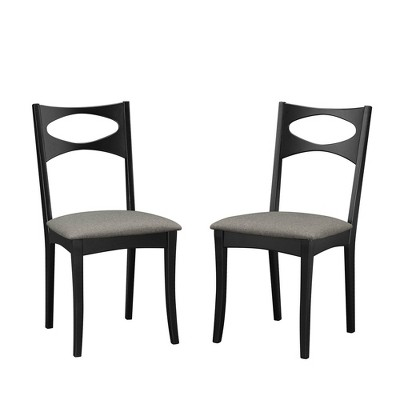 Set of 2 Mid-Century Modern Upholstered Seat Dining Chairs - Saracina Home