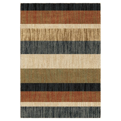 New Horizons Layered Sand Woven Rug - Orian Woven Rugs - image 1 of 4