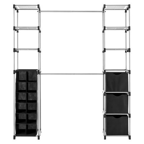 Whitmor Deluxe Double Rod Closet Organizer Black - image 1 of 2