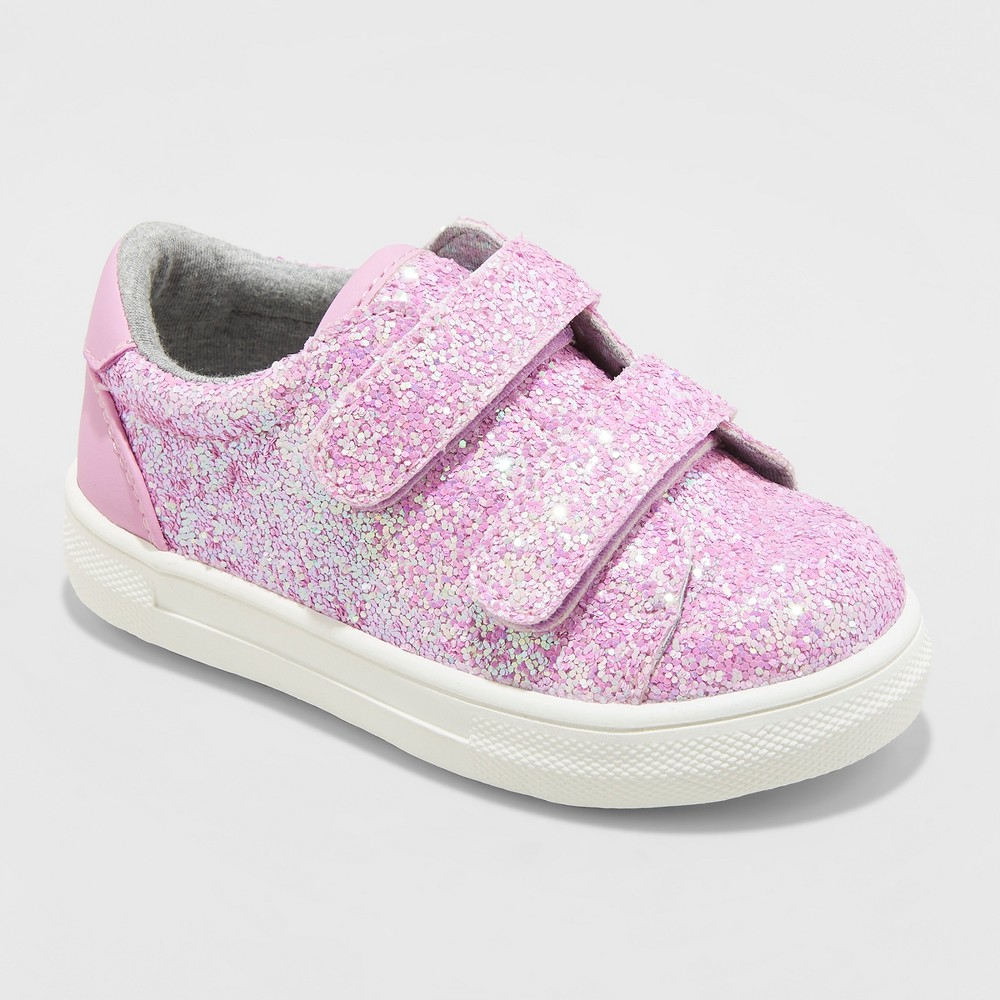 Toddler Girls' Kaedence Glitter Sneakers - Cat & Jack Pink 6