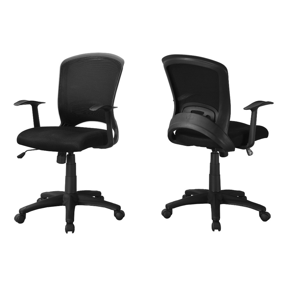 Image of Office Chair - Black Mesh Mid-Back - EveryRoom