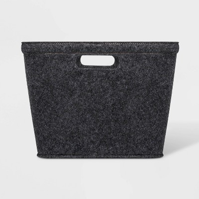 Medium Felt Basket with Stitching Dark Gray 10.5 x14  - Project 62™