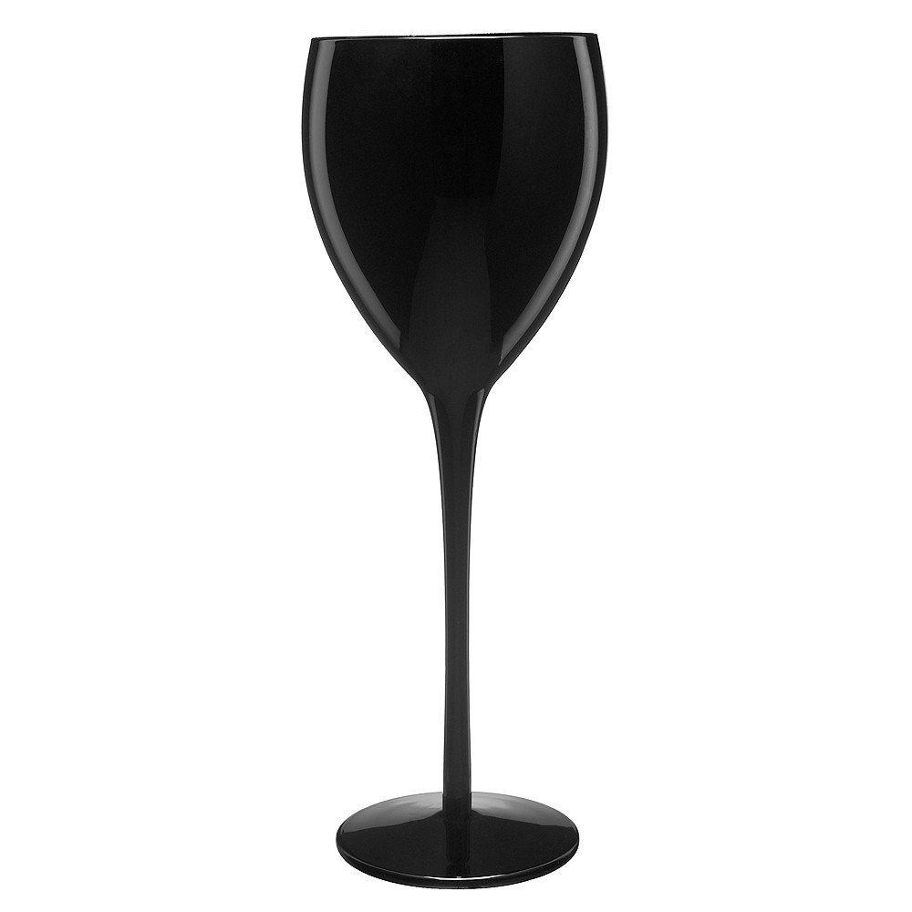 Image of Artland 11oz 4pk Glass Wine Goblets Black