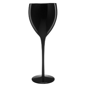 Artland 11oz 4pk Glass Wine Goblets Black