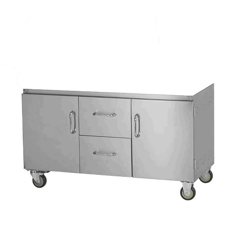 Bull Outdoor Products 7 Burner Premium Stainless Steel Grill Cart Bottom Only Target