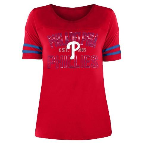 MLB Philadelphia Phillies Women's Dugout Poly Rayon T-Shirt - image 1 of 1
