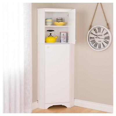 Elite Tall 2 Door Corner Storage Cabinet - Prepac