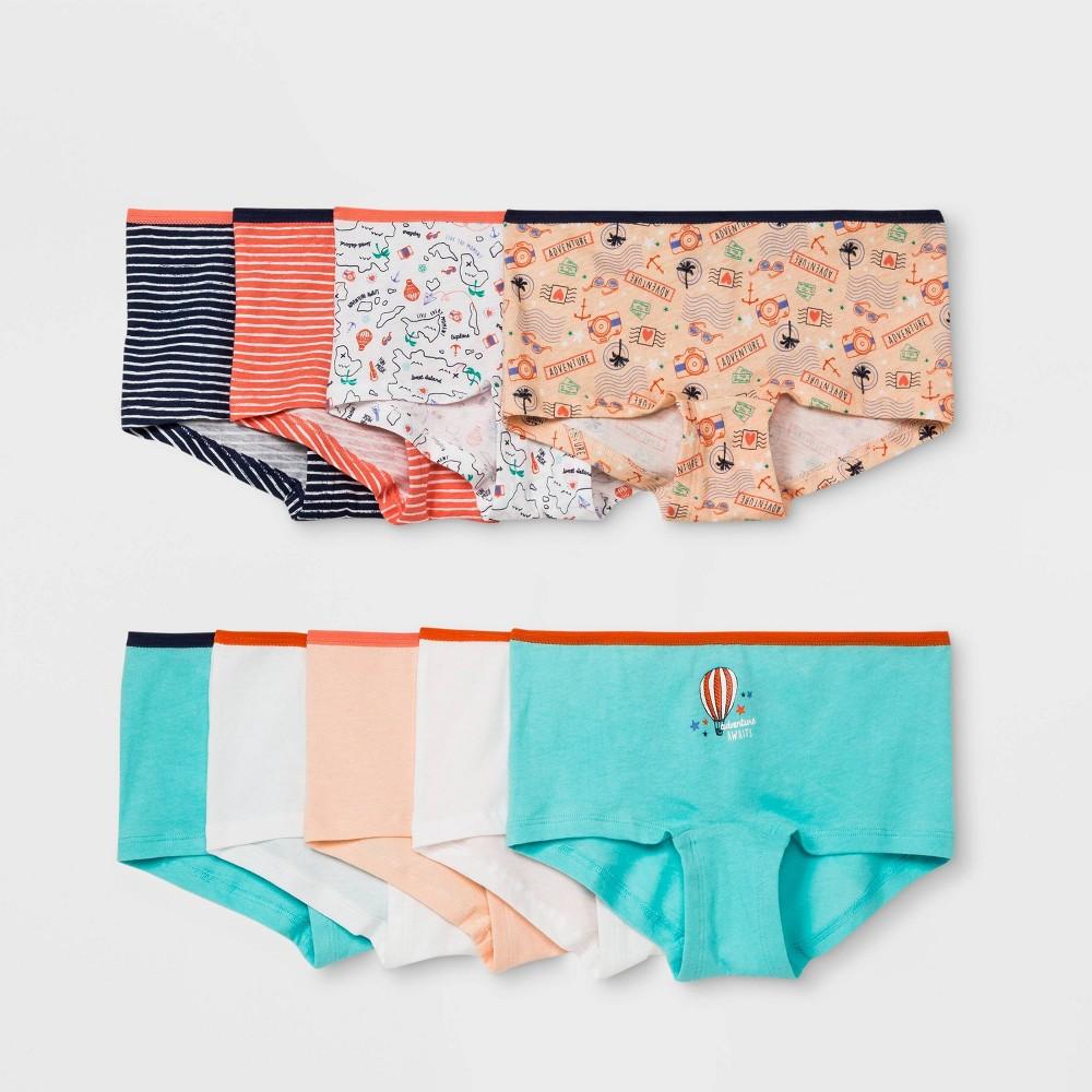 Girls' Boy Shorts - Cat & Jack Colors May Vary 8, Blue