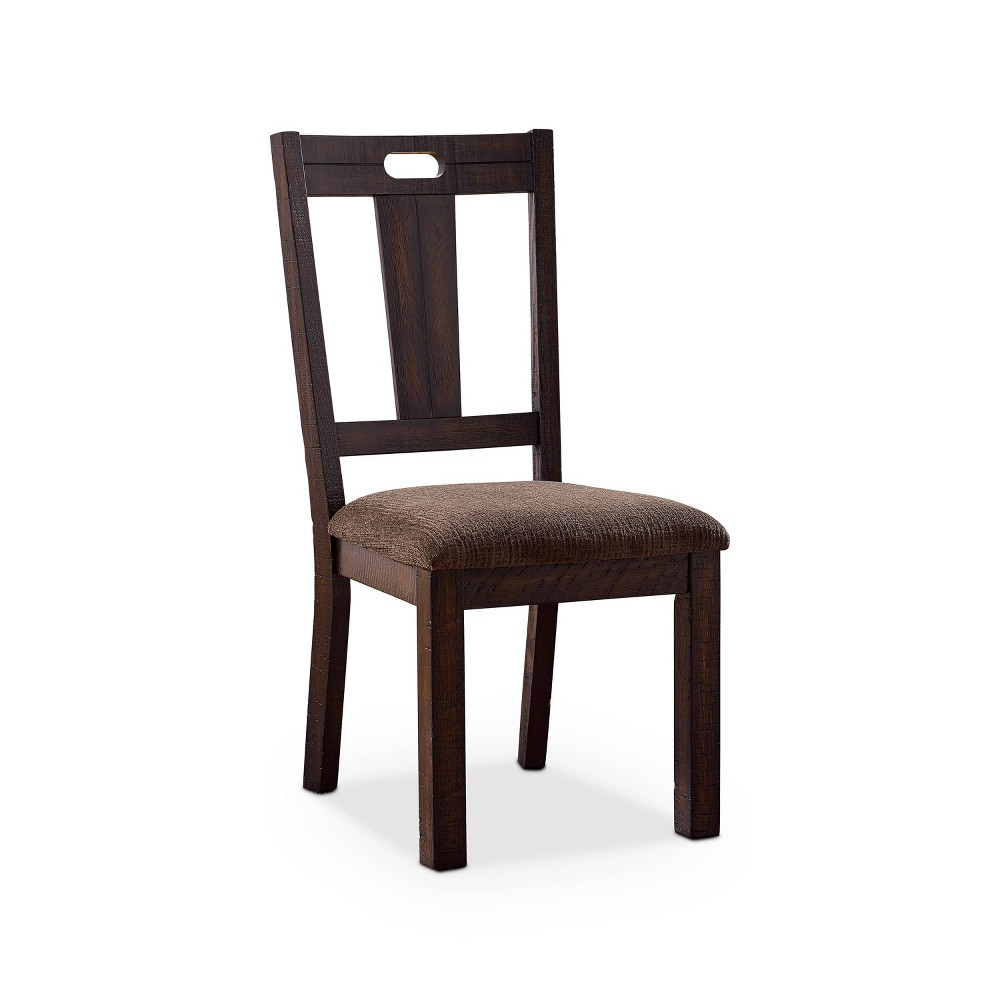 Promos Set of 2 Hawthorne Padded Seat Side Chair Brown - HOMES: Inside + Out