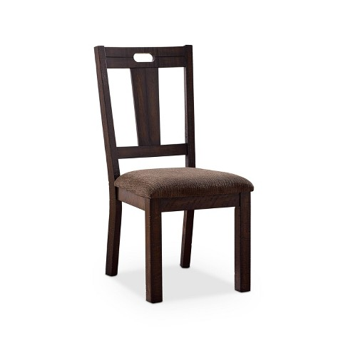 Set of 2 Hawthorne Padded Seat Side Chair Brown - HOMES: Inside + Out - image 1 of 4