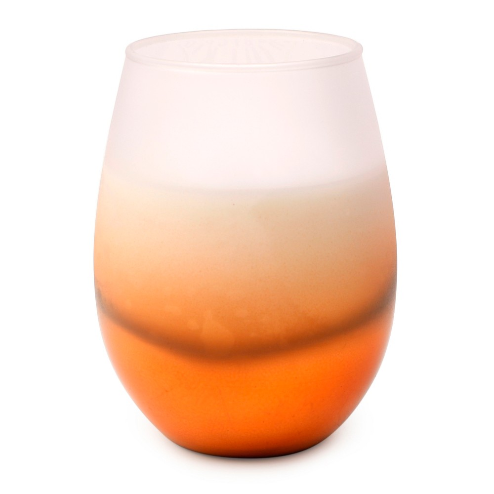 Gold Ombre Glass Candle (12oz) - Pumpkin Spice - Vineyard Hill Naturals by Paddywax, Brown