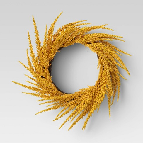 "20"" Artificial Goldenrod Wreath - Threshold™ - image 1 of 2"