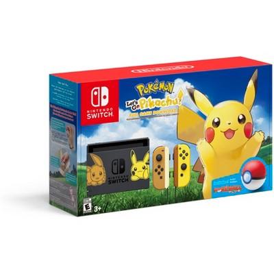 Nintendo Switch Pikachu & Eevee Edition with Pokemon: Let's Go Pikachu! Bundle