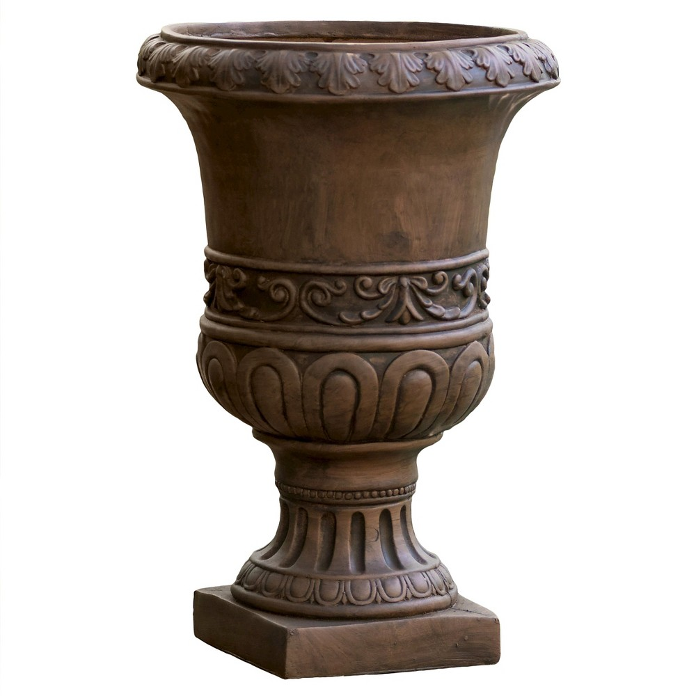 Image of 26 Turkish Cast Stone Patio Urn - Christopher Knight Home, Brown