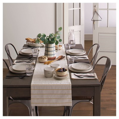 Ordinaire Embroidered Stripe Table Runner   Golden Yellow   Hearth U0026 Hand™ With  Magnolia : Target