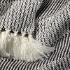 Allover Stripe Twill Throw Blanket Sour Cream/Railroad Gray - Hearth & Hand™ with Magnolia - image 2 of 3