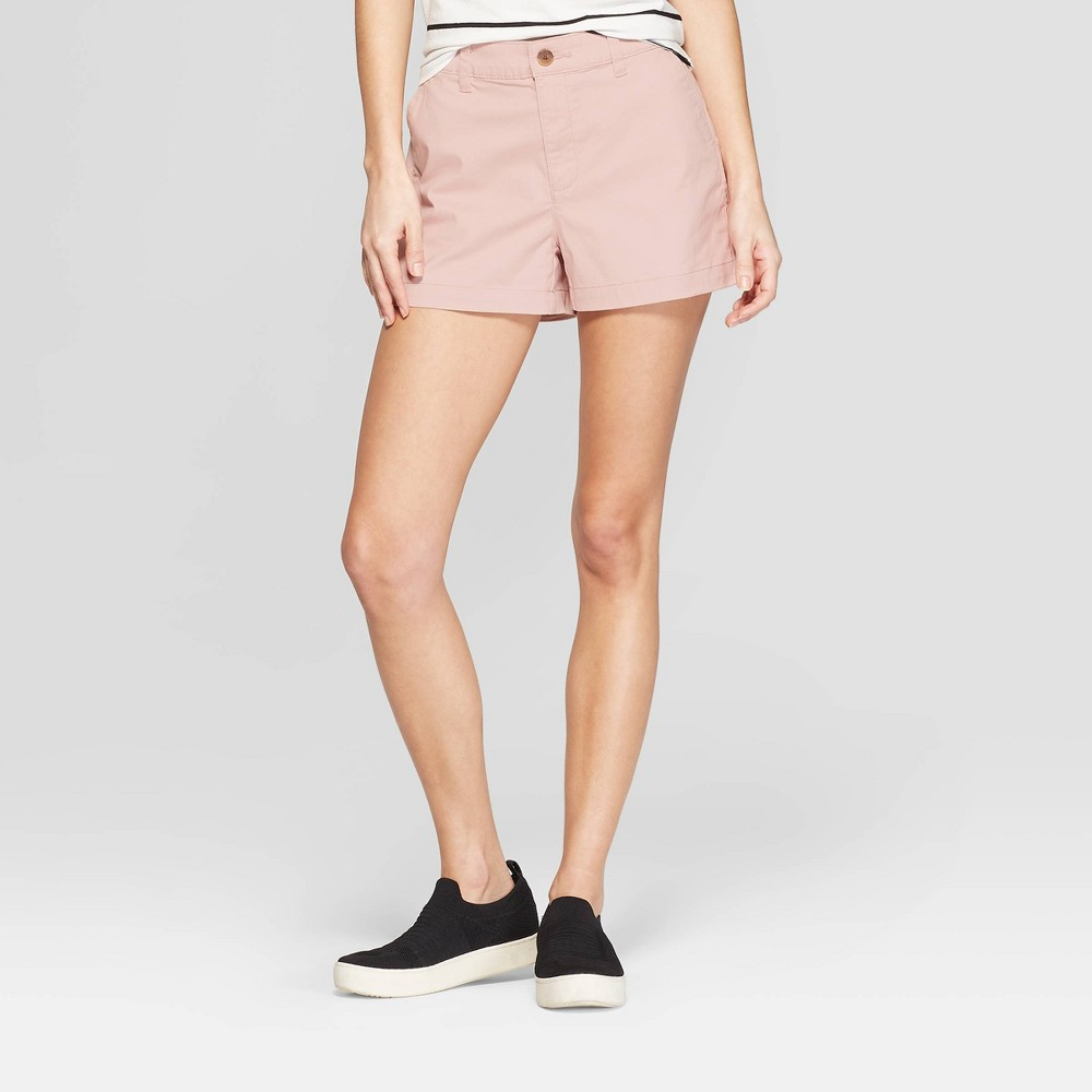 Women's High-Rise Chino Shorts - A New Day Light Pink 6