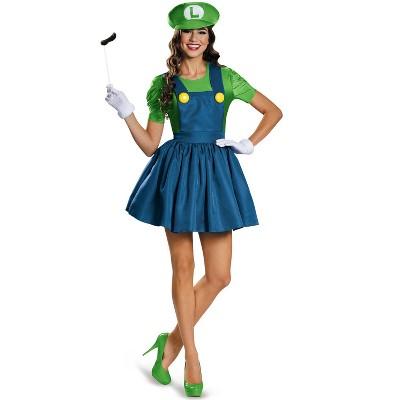 Super Mario Luigi Skirt Adult Costume