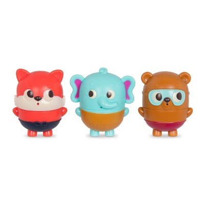 Land of B. Bath Squirts - Squish & Splash Elephant, Bear, Fox