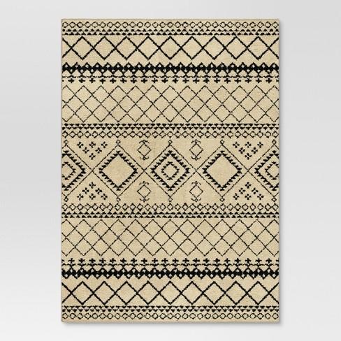 4'x6' Aztec Area Rug Ivory - Threshold™ - image 1 of 3