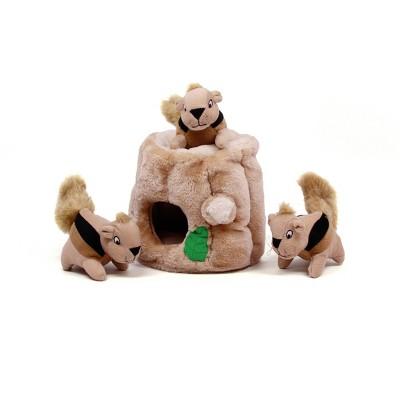 Outward Hound Hide-A-Squirrel Puzzle Plush Dog Toy - M