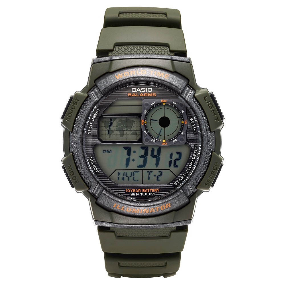 Casio Men's World Time Watch - Green (AE1000W-3AVCF)