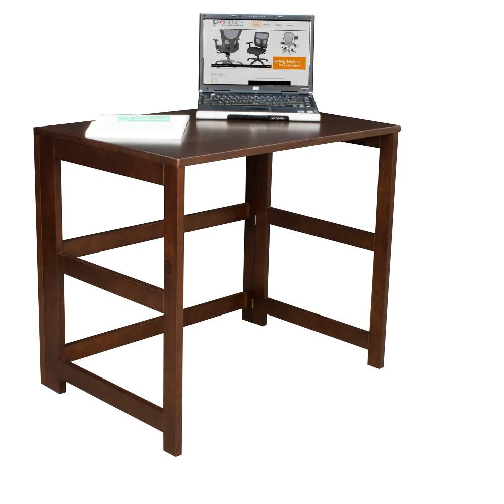 """Image of """"Flip Flop 31"""""""" Folding Desk Mocha Walnut - Niche, Brown"""""""