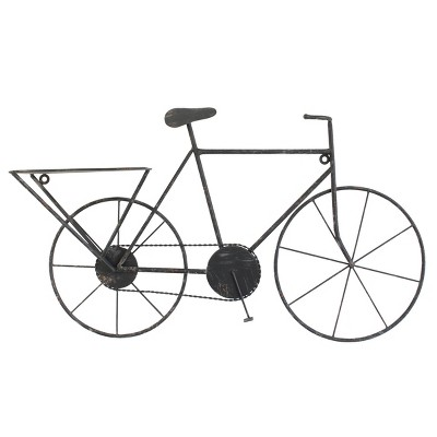 """32.7"""" x 18.7"""" Vintage Metal Bicycle Wall Art Black - Stonebriar Collection"""