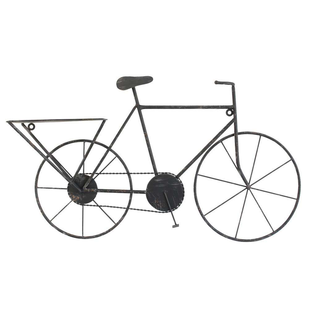 Image of Vintage Bicycle Wall Art Black - Stonebriar Collection