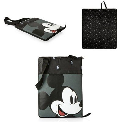 Picnic Time Disney: Mickey Mouse Vista Outdoor Picnic Blanket - Black