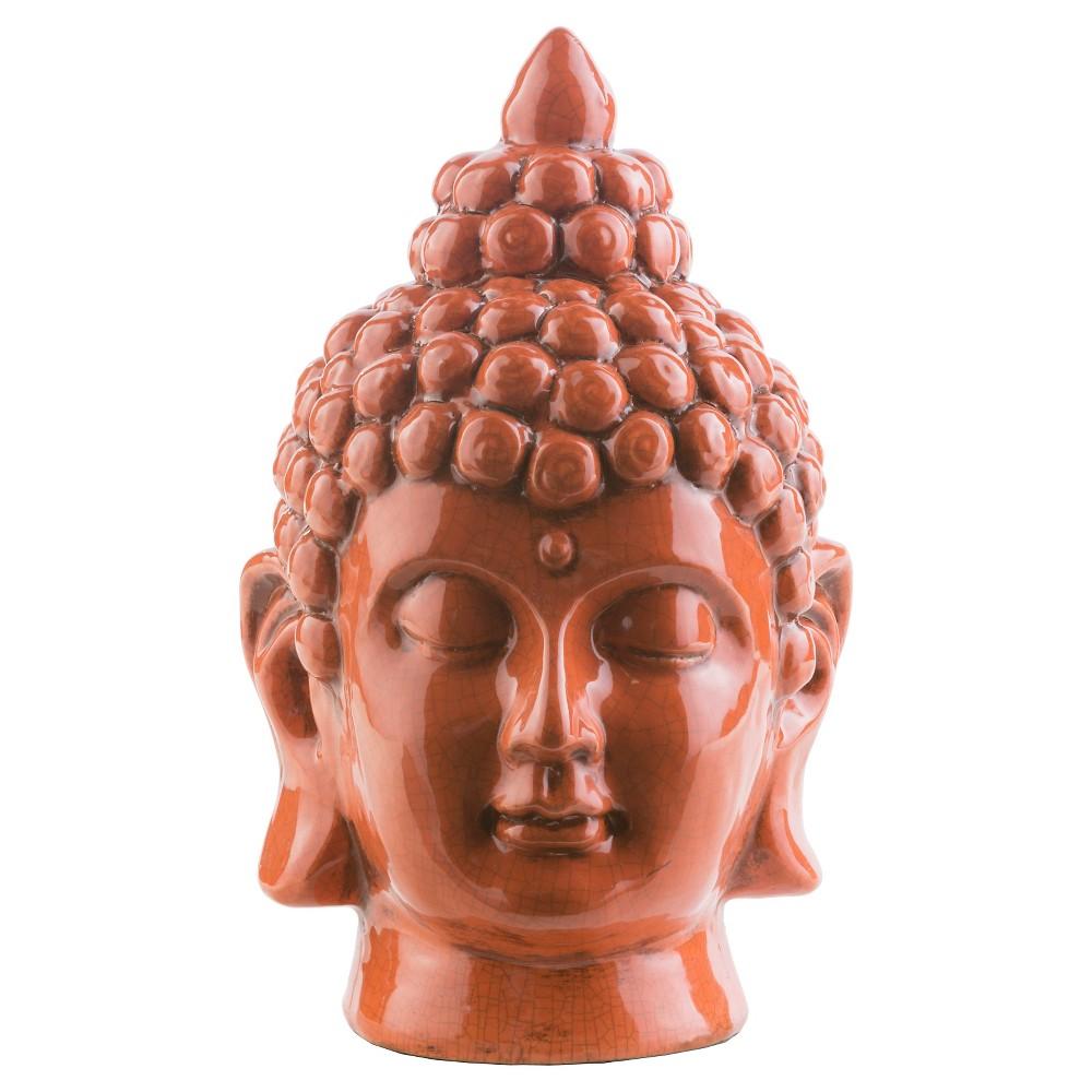 Tonya Outdoor 7.9 Ceramic Buddha Statuary - Rust (Red)
