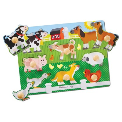 Melissa & Doug® Jumbo Knob Farm 8pc
