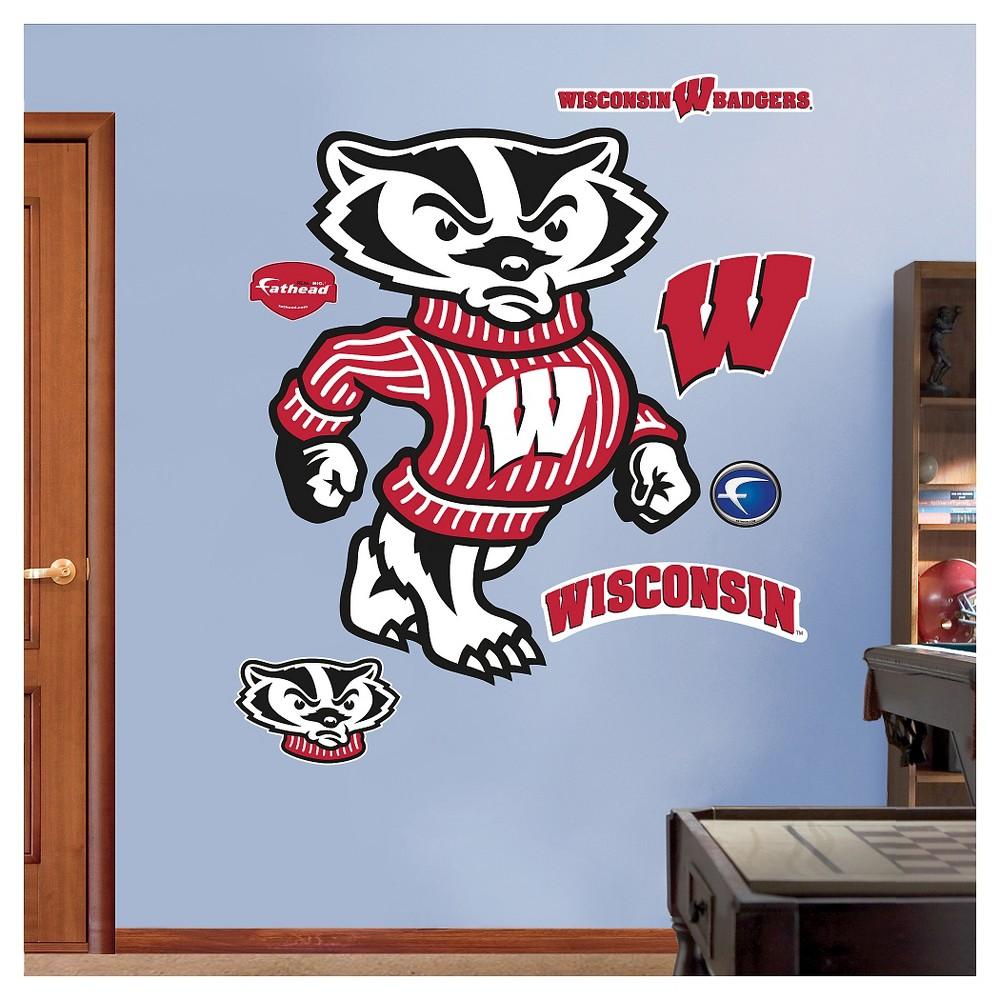NCAA Wisconsin Badgers FatheadDecorative Wall Art Set 52x4